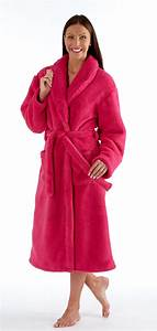Ladies luxury coral fleece bathrobe dressing gown robe for Robe de chambre chaude femme
