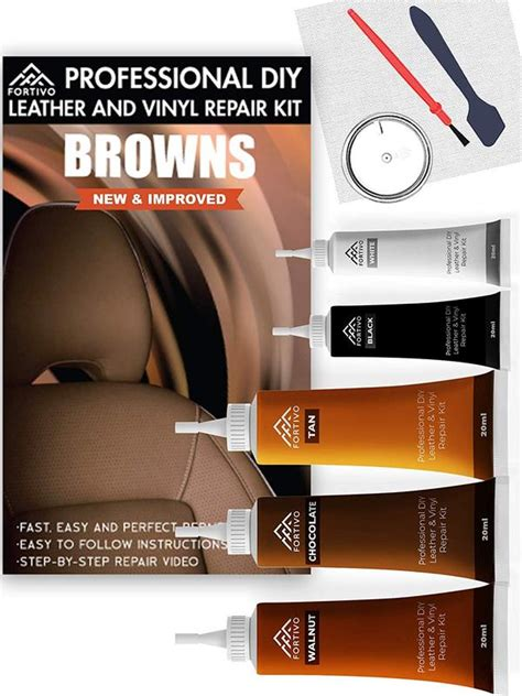 We hope you enjoyed this overview of car upholstery repair and leather and vinyl repair tips. Leather Repair Kits for Couches Brown- Vinyl Repair Kit ...