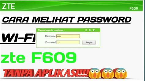 Ganti password user 'admin' web interface. Cara melihat password WiFi ZTE F609 - YouTube