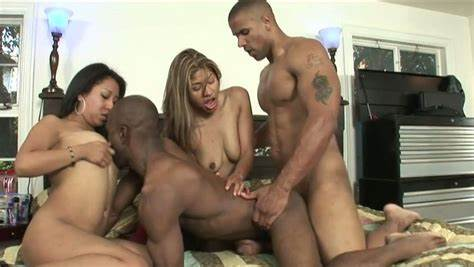 Threesome Guys Fill Her Orgy Holes Video