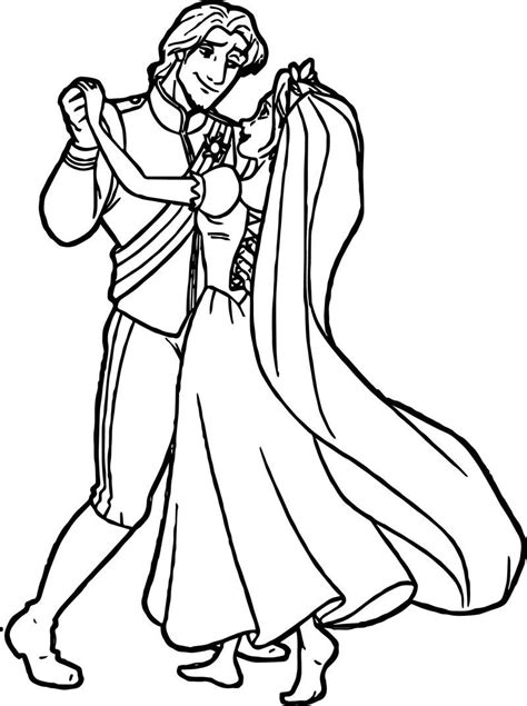 Rapunzel Flynn Wedding Dance Coloring Pages di 2020