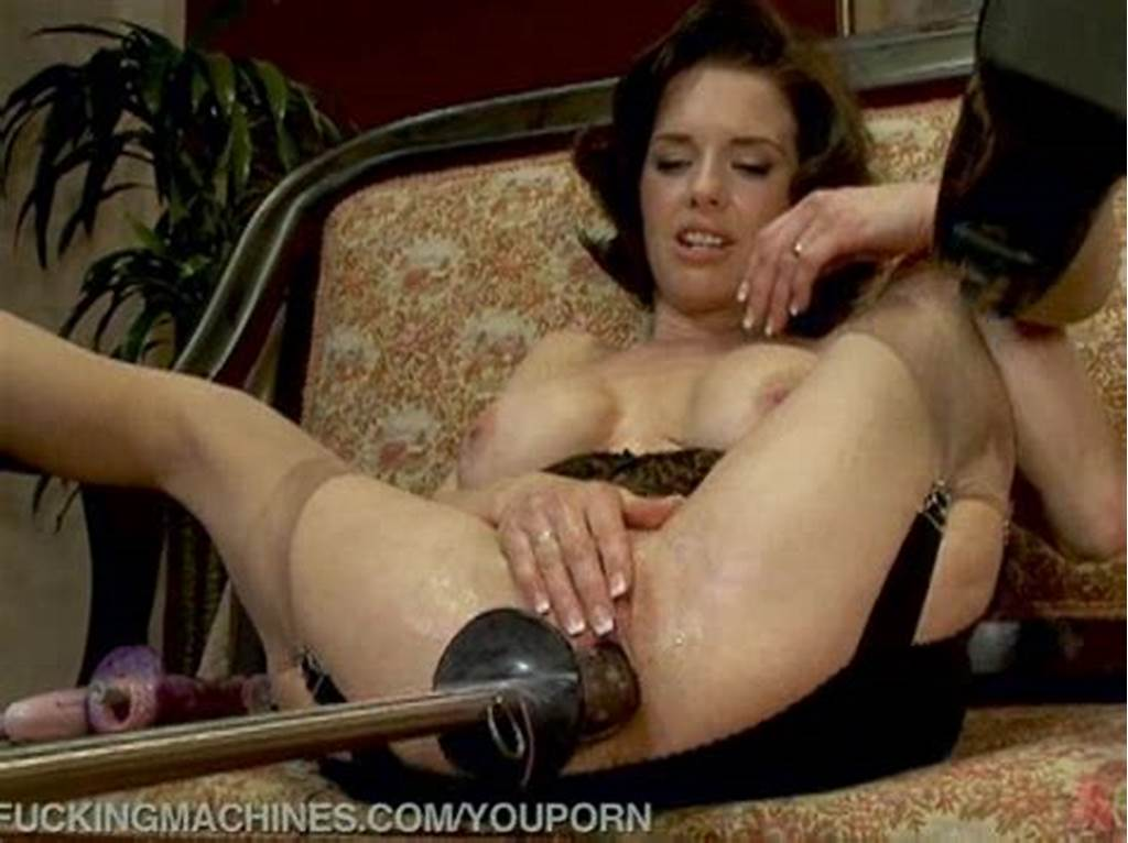 #Hot #Squirting #Milf #Machine #Fucked