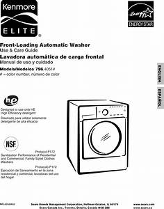 Kenmore Elite 79640512900 User Manual Washer Manuals And Guides L0911156