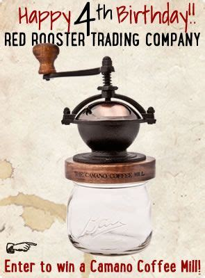 It has convenient attached blue lacquer wood storage container to. Camano Coffee Mill by Red Rooster Trading Company | Red rooster, Manual coffee grinder