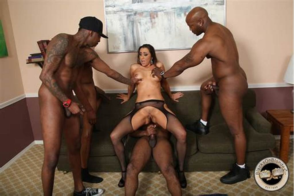 #Stunning #White #Brunette #Kaylynn #Gets #Banged #By #Four #Huge