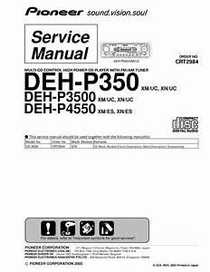 Pioneer Deh P350 Deh P3500 Deh P4550
