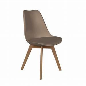 Coussin Pour Chaise Scandinave : chaise scandinave coque avec coussin taupe les douces ~ Dailycaller-alerts.com Idées de Décoration