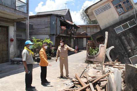 บ้านทรุด 3 หลังรวดในชุมชนตลาดล่างเทศบาลต.ชะอวด