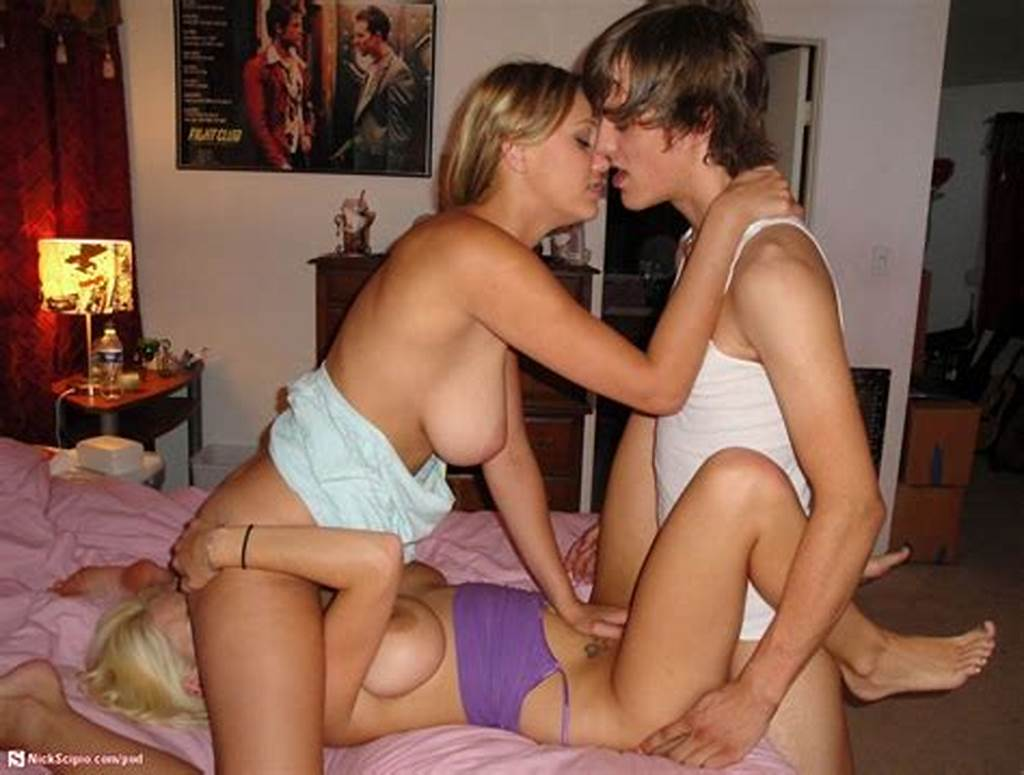 #Teen #Guy #Fucking #Two #Hot #Amateurs