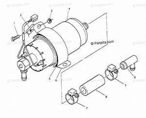 Polaris Snowmobile 1995 Oem Parts Diagram For Fuel Pump