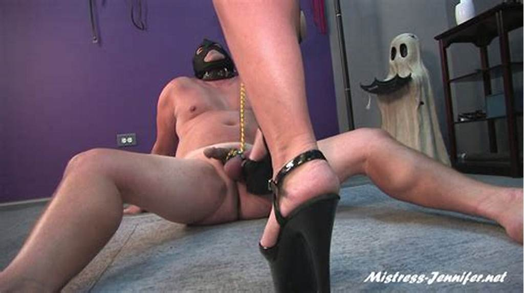 #Masked #Slave #Got #Balls #Kicked #Body #Whipped #Although #He
