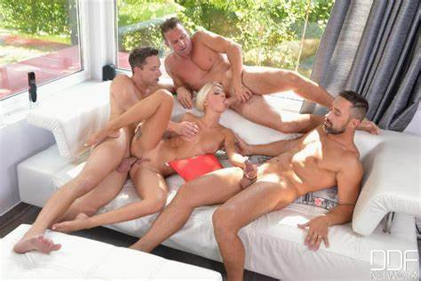 Blond And Latinos Cocks Take Turns On Her Junior Assfuck