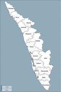 Kerala Free Map  Free Blank Map  Free Outline Map  Free