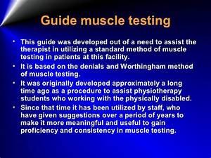 Manual Musle Testing