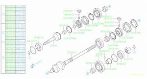 Subaru Manual Transmission Parts Diagram