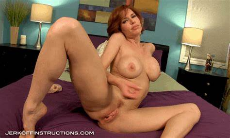 Violet Hairy Stepmom Jerking In Corset jerk off instructions