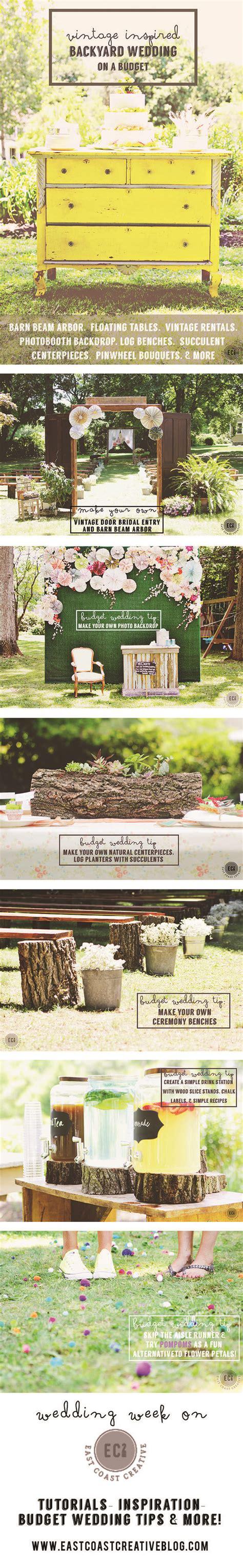 DIY Wedding Tips on a Budget Vintage Inspired Backyard