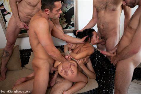 Gangbang Guys Choking And Face Gets Girlfriends Together