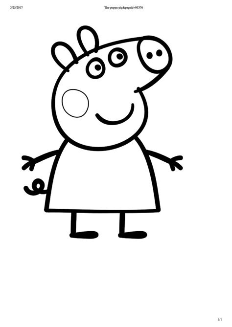 Pappa pig party favur colouring in Peppa pig coloring