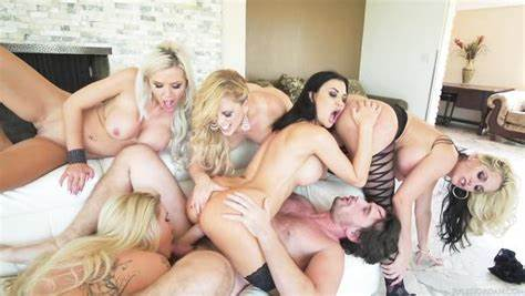 Long Titted Pornstar Getting An Analed Orgy