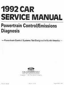 1992 Ford Escort And Mercury Tracer Wiring Diagram Original