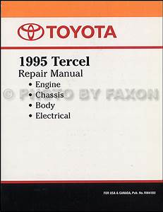 1995 Toyota Tercel Repair Shop Manual Original