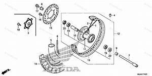 Honda Motorcycle 2013 Oem Parts Diagram For Front Wheel  1