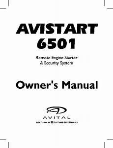 Avital Remote Starter 6501 User Guide