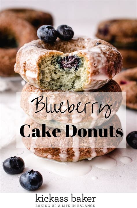 I enjoy dunkin donut beverages year round. Easy Baked Blueberry Cake Donuts - kickass baker   Recipe ...