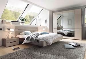 Günstige Schlafzimmer Komplett : schlafzimmer komplett 4 teilig sonoma eiche dunkel sand ~ Watch28wear.com Haus und Dekorationen