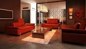 Welche Kissen Zu Rotem Sofa : rote sofas prachtvoll und sinnlich ~ Michelbontemps.com Haus und Dekorationen