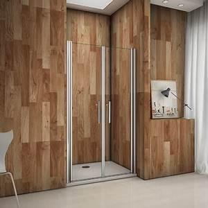 Installation Cabine De Douche : porte de douche pivotante 80x185 cm verre anticalcaire cabine de douche installation en niche ~ Melissatoandfro.com Idées de Décoration