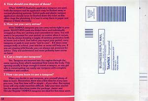 Tampax Booklet  U0026quot Accent On You U0026quot   1983  At Mum