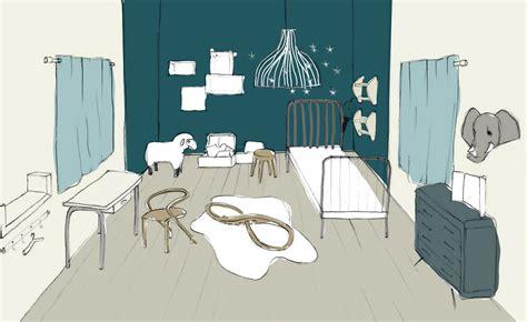 dessin de chambre beautiful coloriage decoration dune chambre de bebe