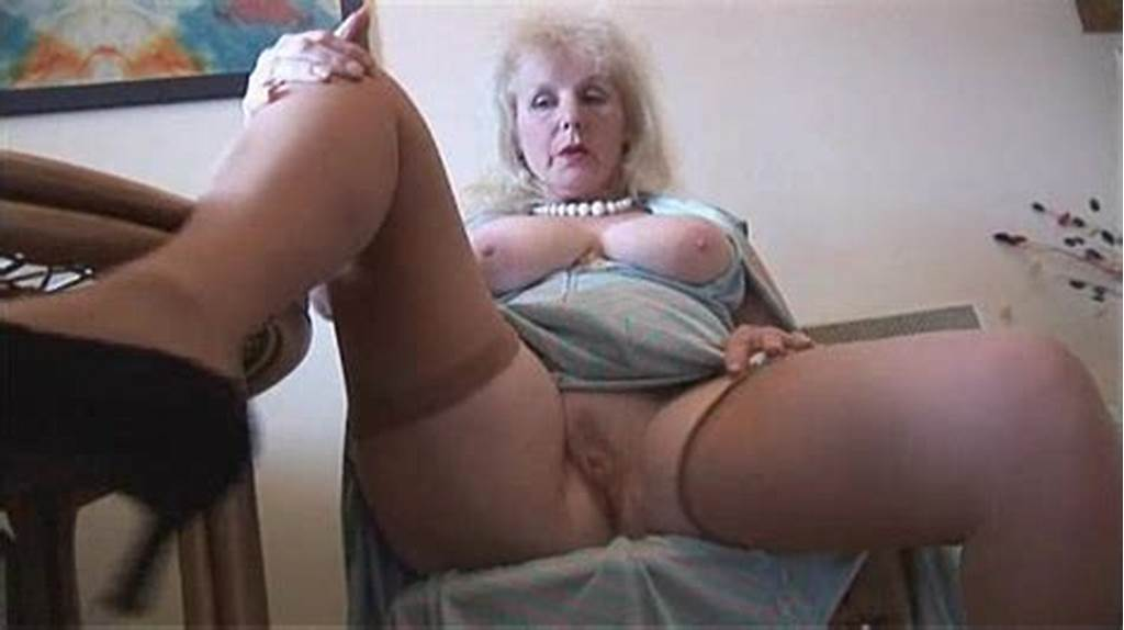 #Curvy #Mature #Lady #In #Stockings #Strips #And #Poses