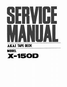 Akai X150d  Service Manual  Repair Schematics