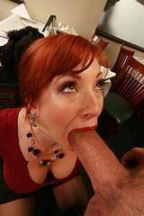 Nude red head suck