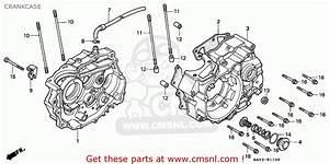 Honda Nx125 Transcity 1989  K  France    Cmf Crankcase