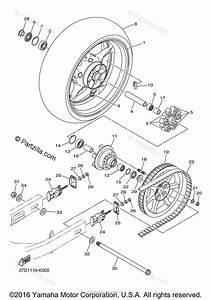 Yamaha Motorcycle 2012 Oem Parts Diagram For Rear Wheel