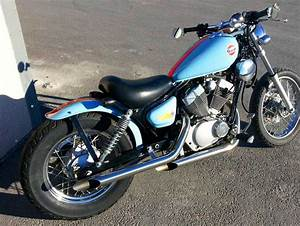 Yamaha Virago Slash Cut Slip On Exhaust Mod