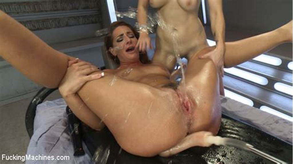 #Lesbians #Taking #Machines #And #Cumming #In #Gym