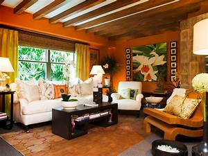 19 orange living room designs decorating ideas design With tropical interior design living room