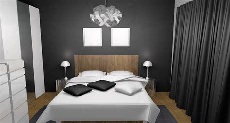 photo chambre adulte chambre adulte moderne chic laqué blanc gris teck