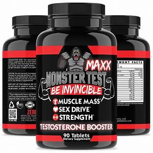 Monster Test Testosterone Booster  6 000  Mg Maximum Strength