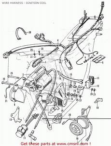 Honda Cb350 Super Sport 350 K4 1972 Usa Wire Harness