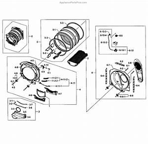 Parts For Samsung Dv448aep  Xaa-03  Drum Assy Parts