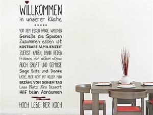 Sprüche Für Die Küche : wandtattoo willkommen in unserer k che ~ Watch28wear.com Haus und Dekorationen