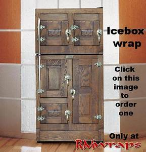 icebox fridge wrap bring back some style wwwrmwrapscom With what kind of paint to use on kitchen cabinets for custom vinyl sticker printing