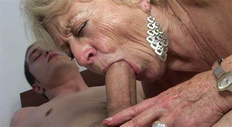 Destroy Deepthroat Porn For The Slender Grey Haired Girl