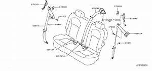 Nissan Rogue Seat Belt Receptacle  Rear   Trim  Interior